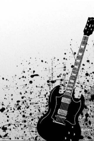 Black Guitar Iphone Wallpaper Idesign Iphone