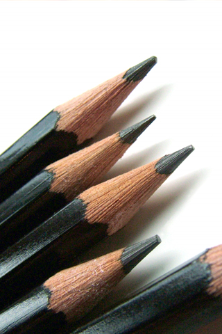 Pencil Collection iPhone Wallpaper