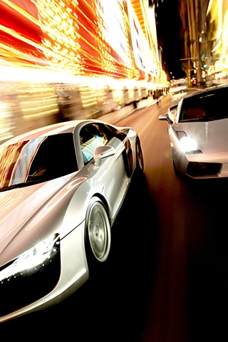 Street Race iPhone Wallpaper