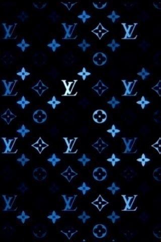 Louis Vuitton Blue Iphone Wallpaper Idesign Iphone