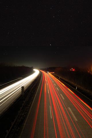 Highway Lights iPhone Wallpaper