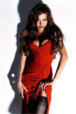 Red Dress Angelina  iPhone Wallpaper