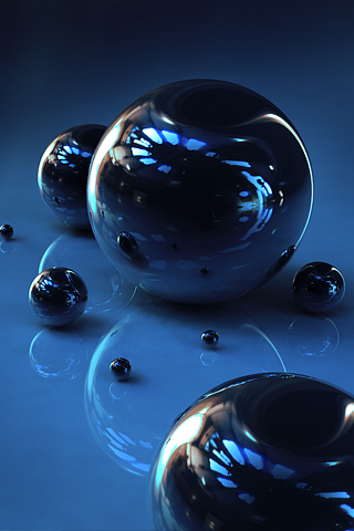 Metallic Balls iPhone Wallpaper
