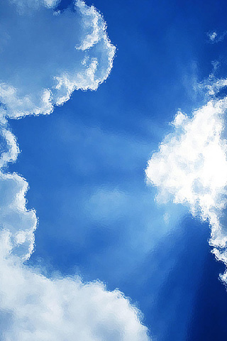 Steamy Clouds iPhone Wallpaper
