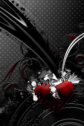Black And Red Heart Wallpaper
