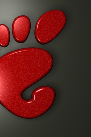 Red Foot iPhone Wallpaper