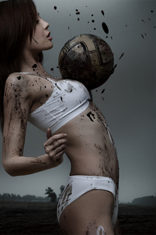 Soccer Girl iPhone Wallpaper