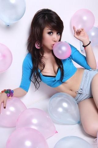 Balloon Lady iPhone Wallpaper