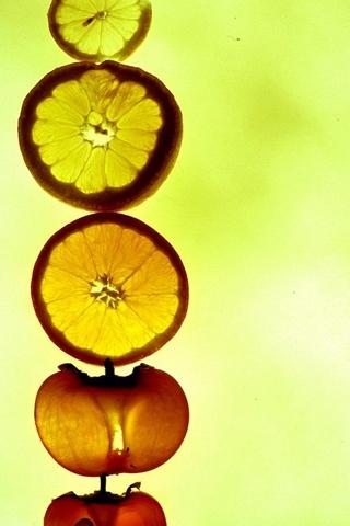 Fruit Train iPhone Wallpaper
