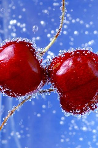 Cherries iPhone Wallpaper