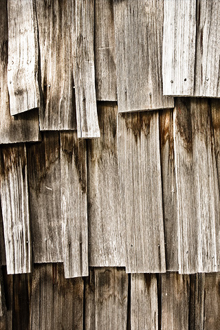 Wood Shingles iPhone Wallpaper