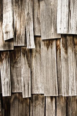 Wood Shingles iPhone Wallpaper