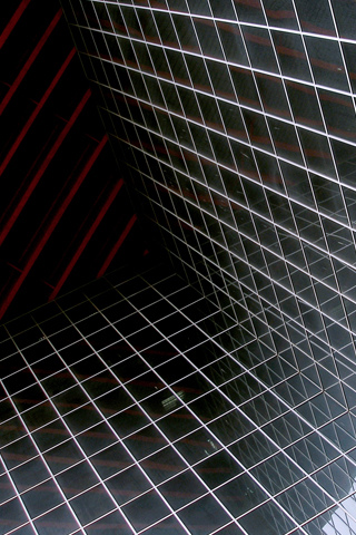 Grid Wall iPhone Wallpaper