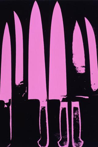 Purple Knives iPhone Wallpaper