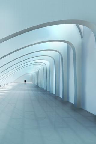 White Hallway iPhone Wallpaper