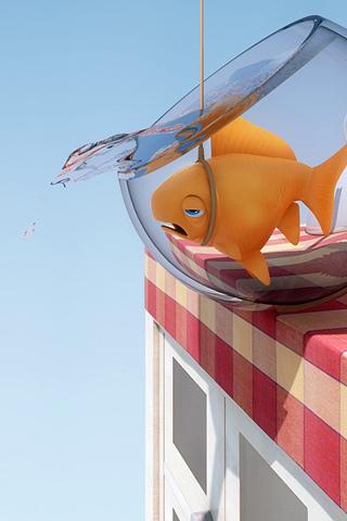 Emo Fish iPhone Wallpaper