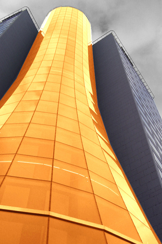 Orange Stack iPhone Wallpaper