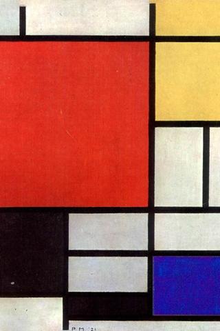 Piet Mondrian iPhone Wallpaper