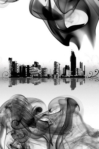 Smokey City iPhone Wallpaper