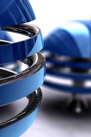 Blue Rings iPhone Wallpaper