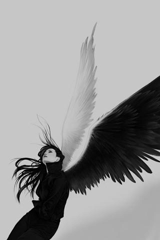 Fallen Angel iPhone Wallpaper