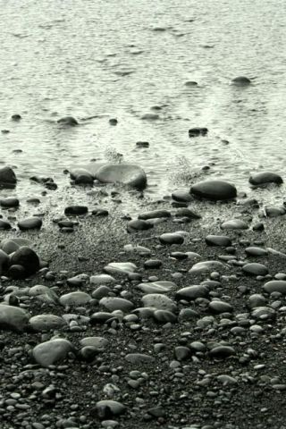 Skipping Stones iPhone Wallpaper