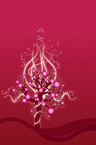 Pink Tree iPhone Wallpaper