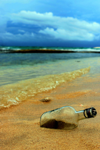 Bottle of Sand iPhone Wallpaper