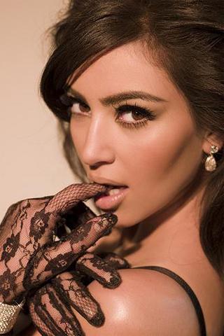 Kim Kardashian iPhone Wallpaper