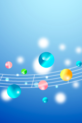 musical notes wallpaper. Bubble Notes iPhone Wallpaper