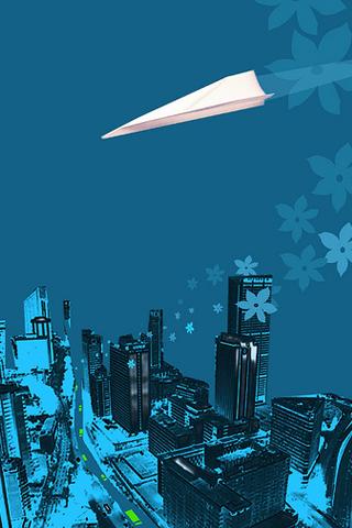 Paper Plane iPhone Wallpaper