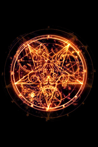 Fiery Pentagram iPhone Wallpaper