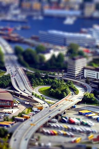 Miniature City iPhone Wallpaper