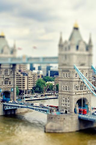 Miniature Bridge iPhone Wallpaper