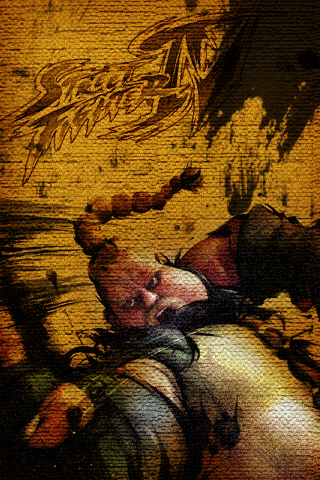 Rufus - Street Fighter IV iPhone Wallpaper
