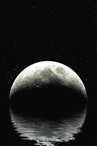 Rising Moon iPhone Wallpaper