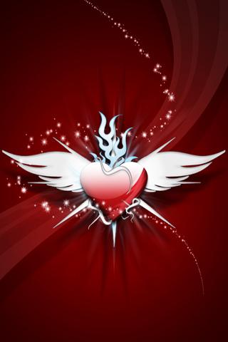 Angel Heart iPhone Wallpaper
