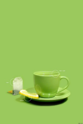 Green Tea iPhone Wallpaper