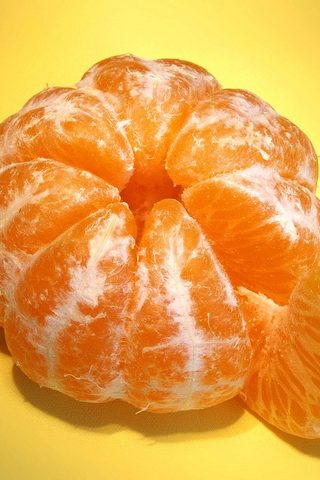 Peeled Orange iPhone Wallpaper