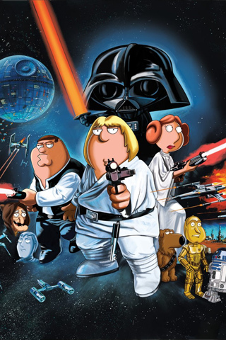 Family Guy - Blue Harvest iPhone Wallpaper