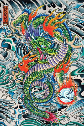 Ed Hardy - Dragon iPhone Wallpaper