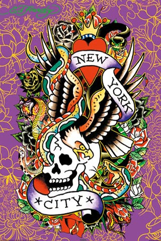 Ed Hardy - New York City iPhone Wallpaper