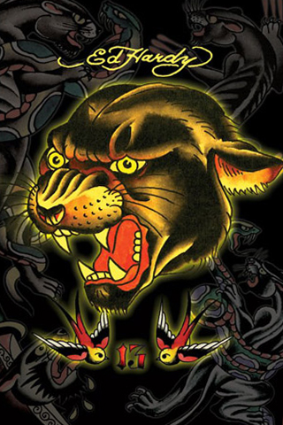 Ed Hardy Panther IPhone Wallpaper