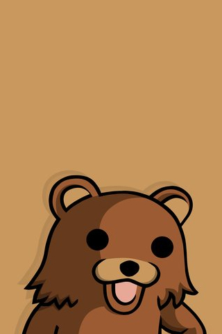 Brown Pedobear iPhone Wallpaper