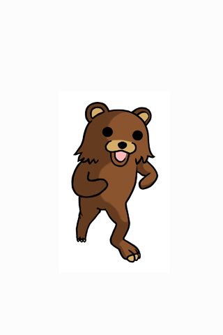 Pedobear iPhone Wallpaper