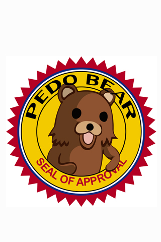 Pedobear Seal of Approval iPhone Wallpaper