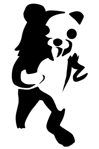 Pedobear Stencil iPhone Wallpaper