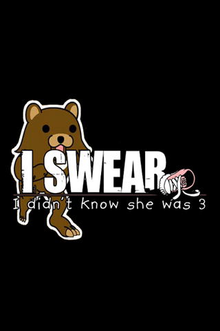 Pedobear Mistake iPhone Wallpaper
