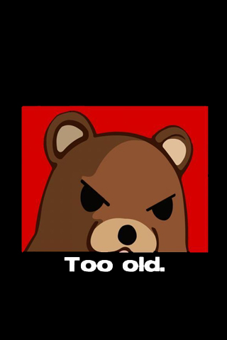 Angry Pedobear iPhone Wallpaper