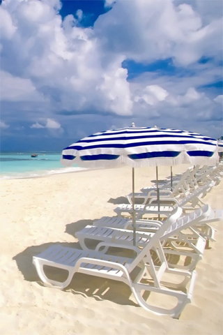 Sandy Beach iPhone Wallpaper